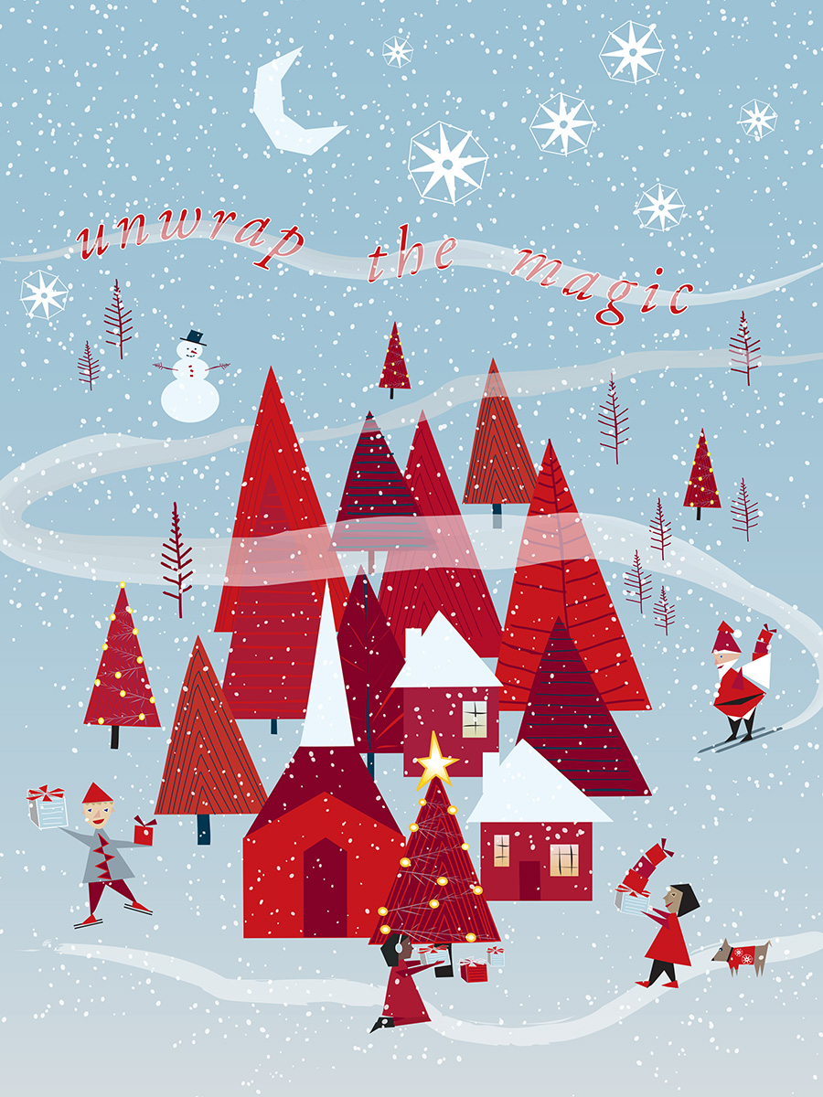 Jcpenney Christmas Illustration 2020 Illustrations for JCPenney ChristmasCatalog Cover & Products