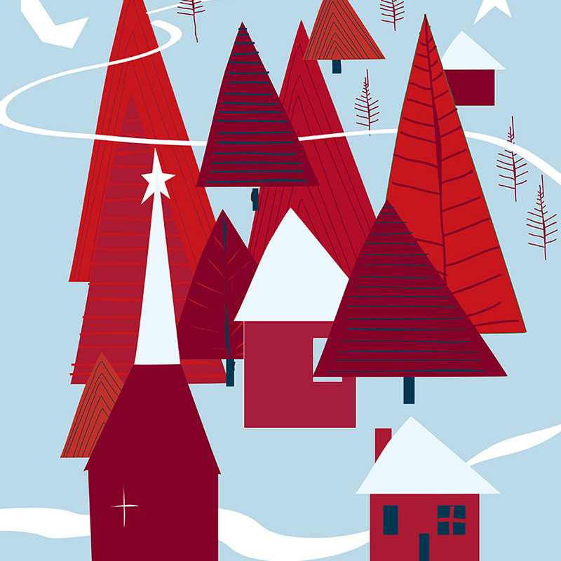 Illustrations for JCPenney ChristmasCatalog Cover & Products